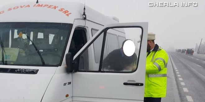 politie control microbuz
