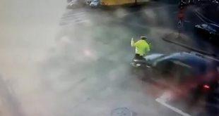 politist lovit masina oradea