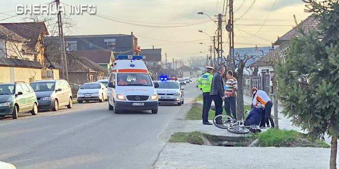 accident biciclist ambulanta gherla