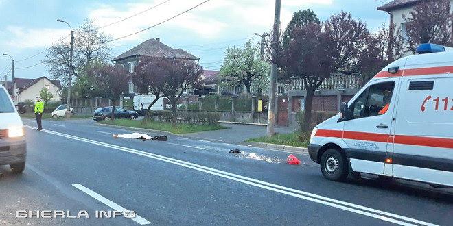 accident cluj ambulanta politie mortal pieton