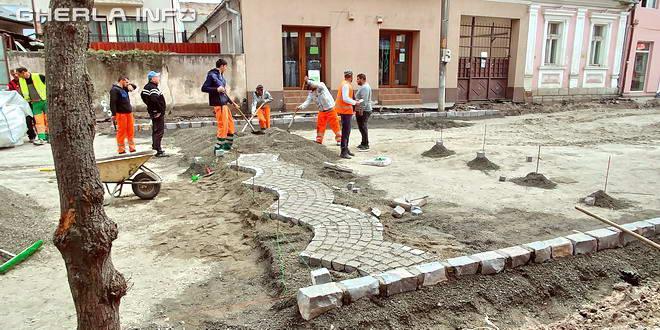 gherla asfaltare piatra cubica strada armeneasca