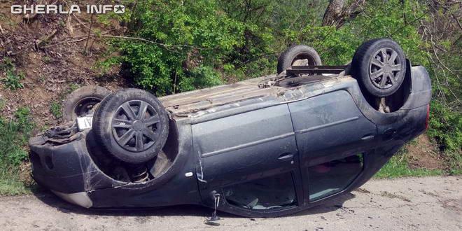 accident taga masina rasturnata logan