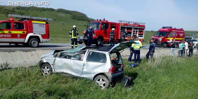 accident cluj pompieri