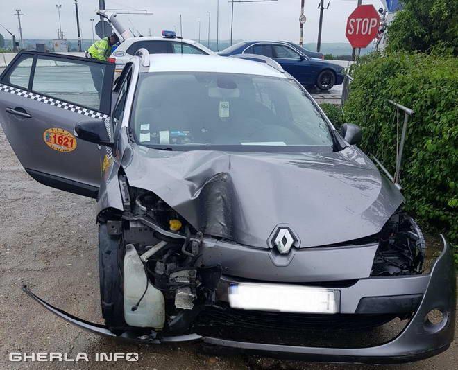accident taxi jucu cluj