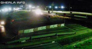 gherla trafic sens giratoriu noaptea