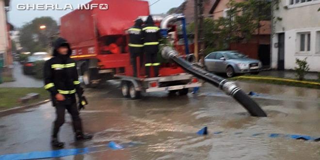 inundatie pompieri bistrita