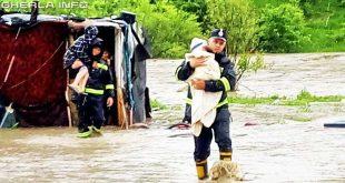 inundatii bistrita pompieri