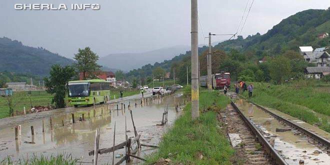 inundatii drum cale ferata bistrita feldru