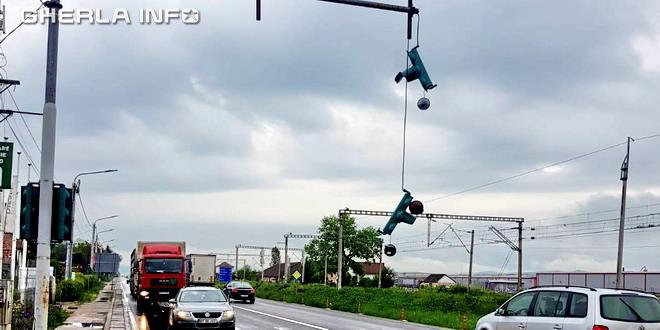 semafor rupt accident jucu cluj