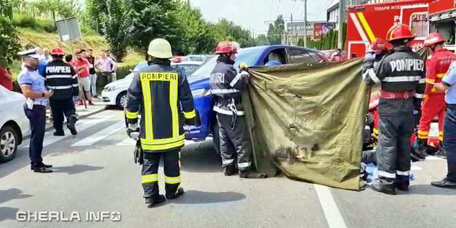 accident cluj pompieri politie pieton