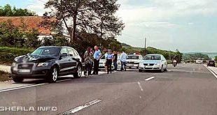 accident livada masina politie