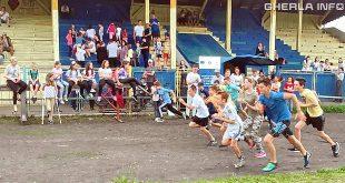 copii alergare stadion gherla