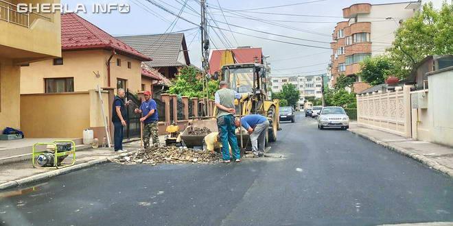 gherla asfalt spart adp strada primaverii