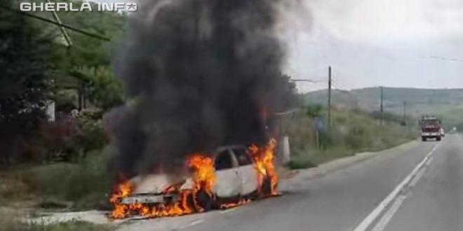 masina incendiu caianu cluj