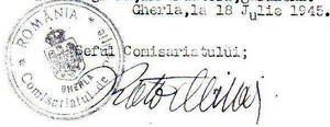 stampila gherla 1945 comisariat