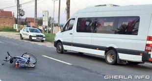 accident bicicleta biciclisat microbuz politie gherla