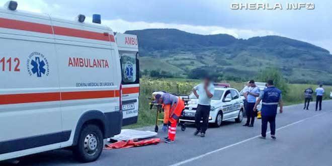 accident fizesu gherlii mortal ambulanta politie