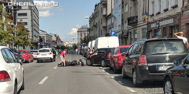 accident cluj mototciclist