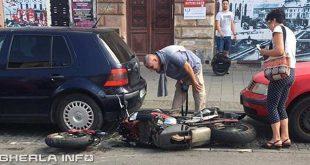 accident cluj motocicleta