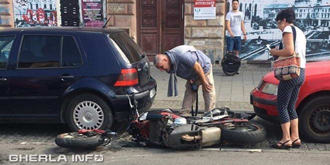 accident cluj motocicleta