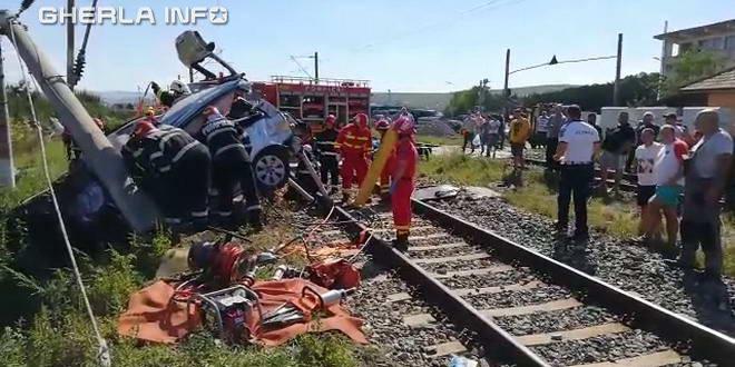 accident tren jucu cluj
