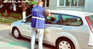 politie taxi spart geam gherla