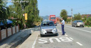 politie sofer oprit trafic dej