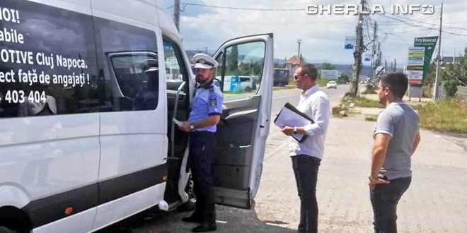 sofer control politie microbuz gherla cluj