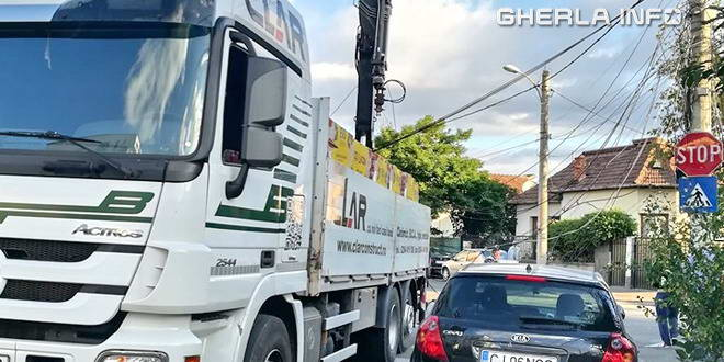 autocamion accident cluj