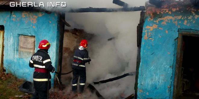 incendiu casa nires pompieri dej