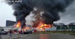 incendiu cluj floresti depozit