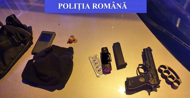 pistol cagula politie cluj
