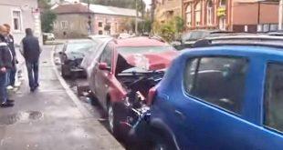 accident dej masini