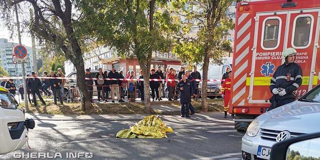 accident cluj pompieri mort