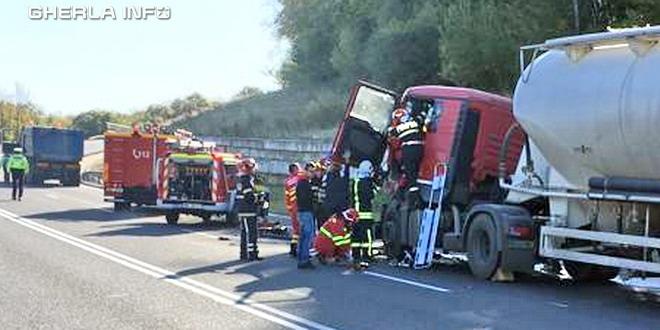 accident mortal sofer betoniera apahida cluj