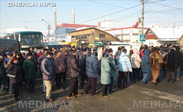 fabrica sticla ghelra protest grava drum blocat muncitori
