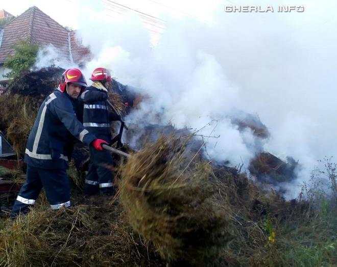 incendiu fan pompieri sic