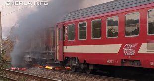 incendiu tren locomotiva cluj cfr