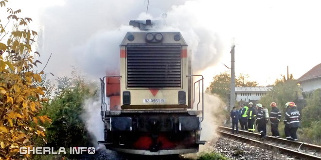 incendiu tren locomotiva cluj