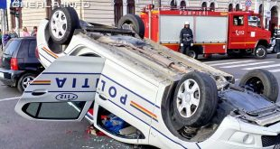 politie masina rasturnata accident cluj