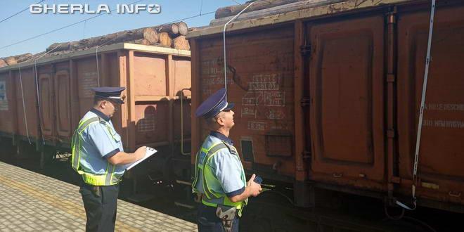 politie tren vagon lemn