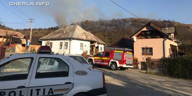 pompieri politie samboieni incendiu