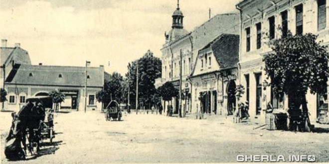 1912 gherla centru cal caruta szamosujvar