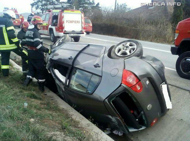 accident apahida cluj masina volkswagen rasturnat sant