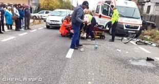 accident dej biciclist ambulanta