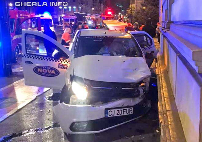 accident cluj taxi