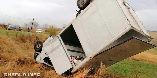autoutilitara rasturnata camarasu accident cluj