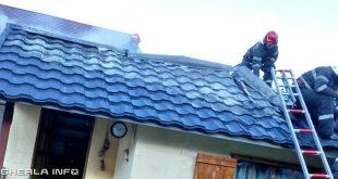 incendiu dej pompieri acoperis