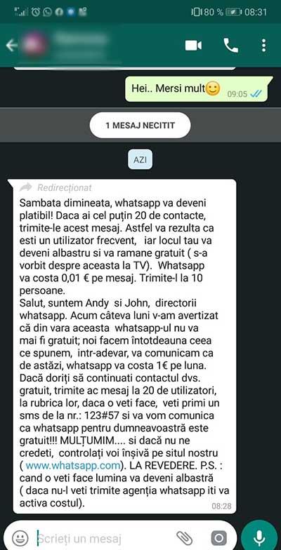 whatsapp mesaj cost