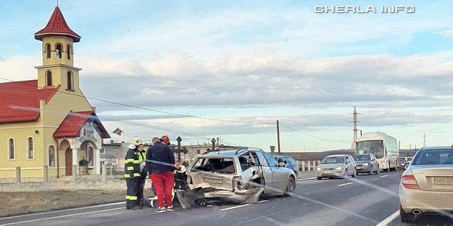 accident bontida tamponare pompieri